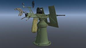 3d model aa gun