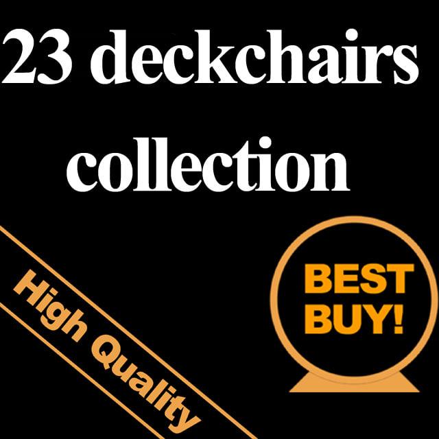 3d 23 deckchairs model