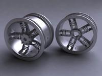 3d wheel rim spokes koncept-003 model