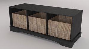 3d bench storage model