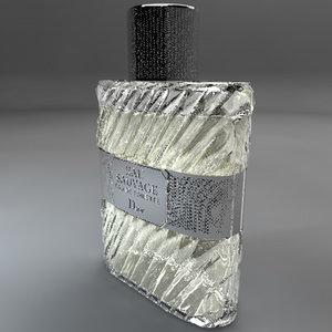 3d model perfume eau sauvage