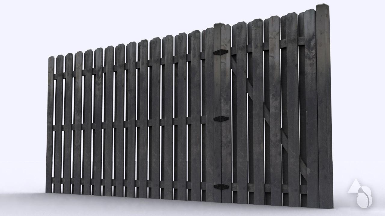obj wood fencing