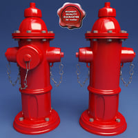 3d hydrant modelled