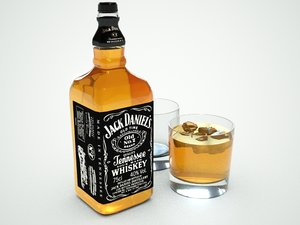 3d model jack daniels whiskey bottle
