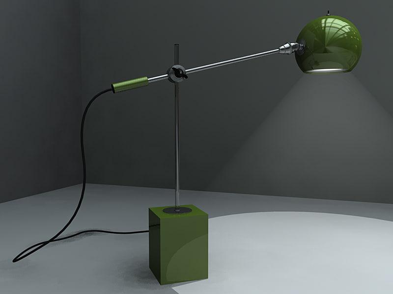 3d vintage art deco lamp