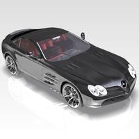 car mercedes slr mclaren 3d model