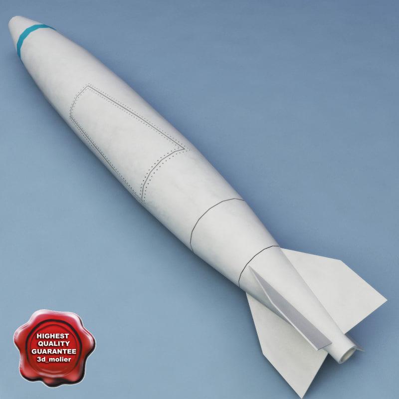 3d model rocket mark 84 bomb