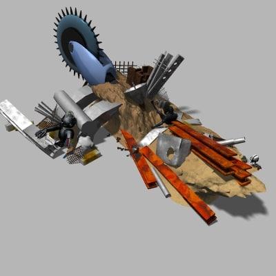 3ds science fiction robo scrap