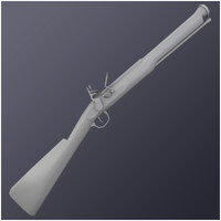 blunderbuss weapon 3d obj