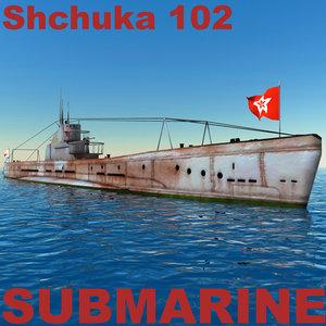 submarine shchuka 102 3ds