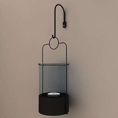 tea light candle lamp 3ds