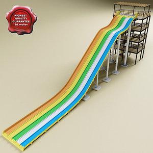water slide v4 3d model