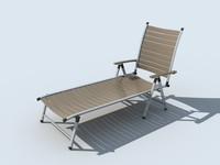3d 23 deckchairs model