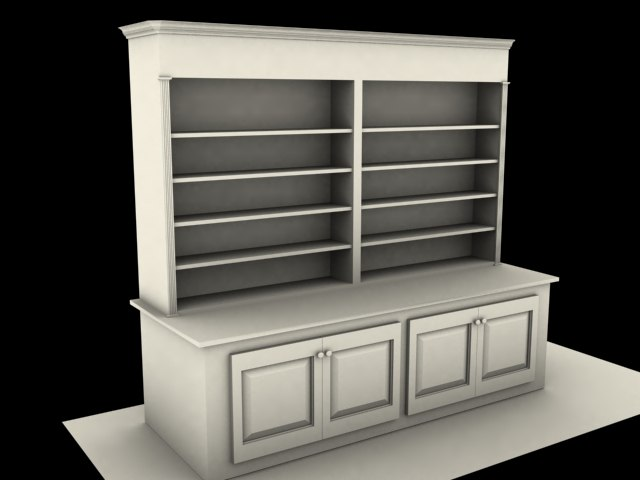 bookshelf shelves 3d max