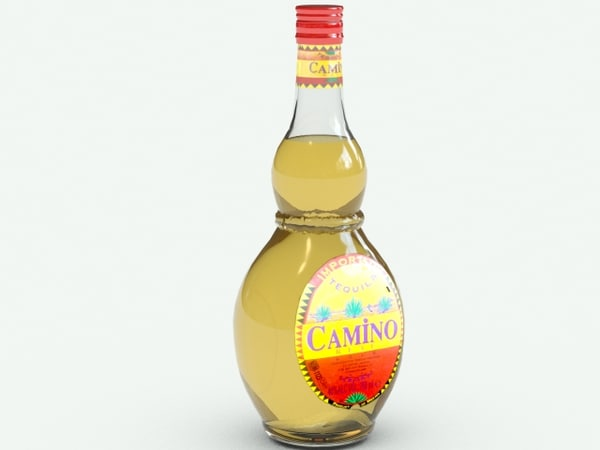 3d camino tequila bottle