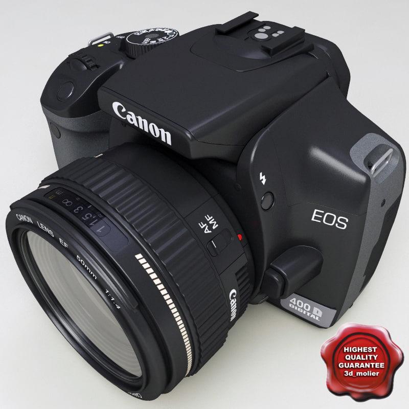3d model canon eos400d