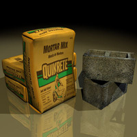 cement sacks 01 3d model