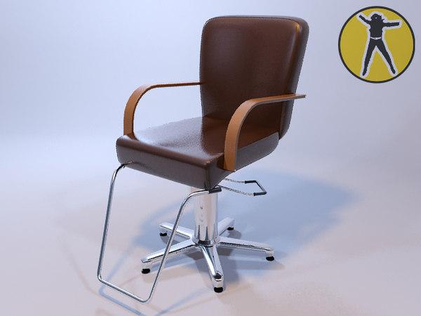 3d chair hair