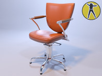 chair hair 3d 3ds