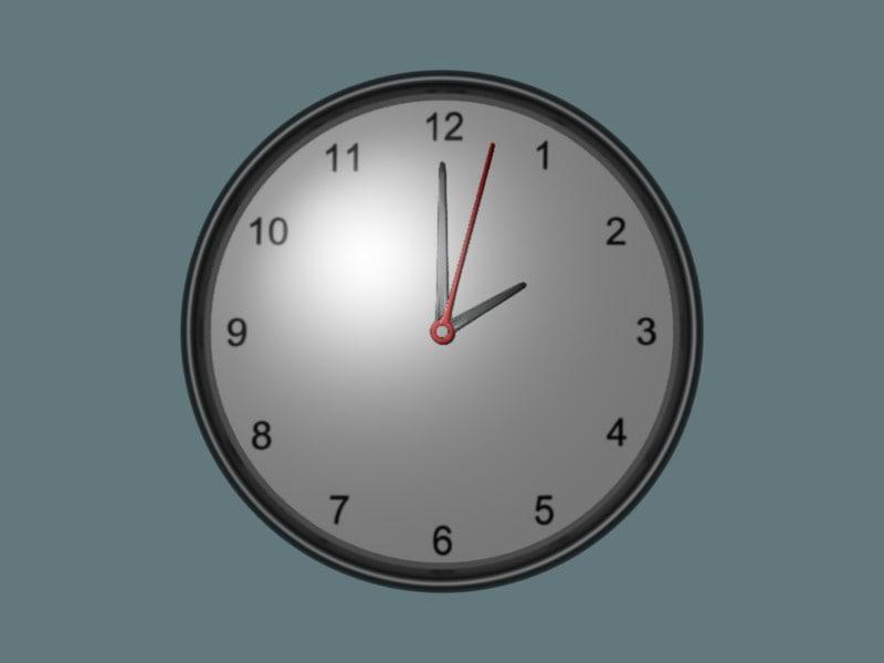 3d model standard clock wall-mounted