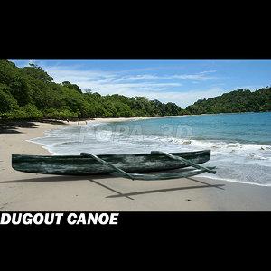 3d canoe dugout