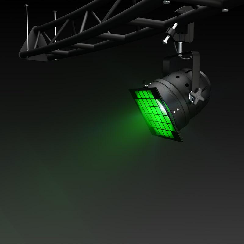 3d model theater light par-56