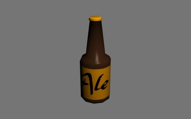 3d bottle games interiors model