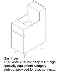 gas fryer 3ds