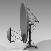 3d model satellite disk antenna