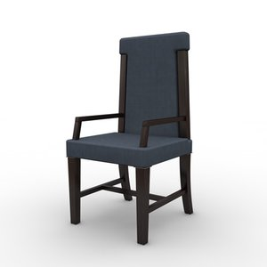 3d dining chair handle model