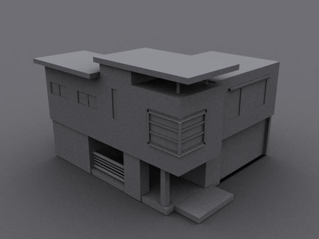3d model house small