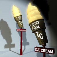 Icecream Cone Sign 01