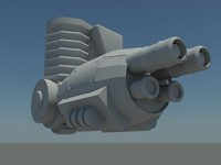 3ds gun turret cannon