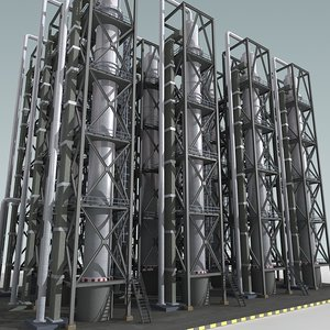 3d model of industrial construction