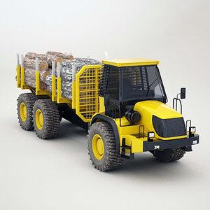 articulated timber transporter 3d 3ds