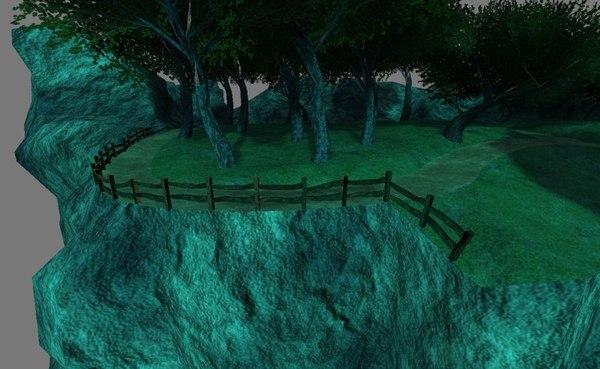 level fantasy landscape 3d model