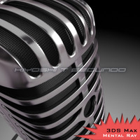 classic microphone 3d model