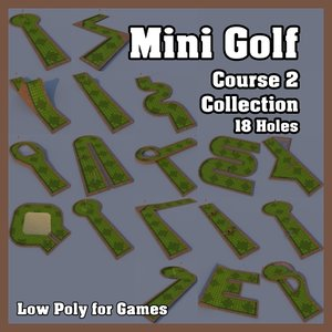 mini golf course2 3d 3ds
