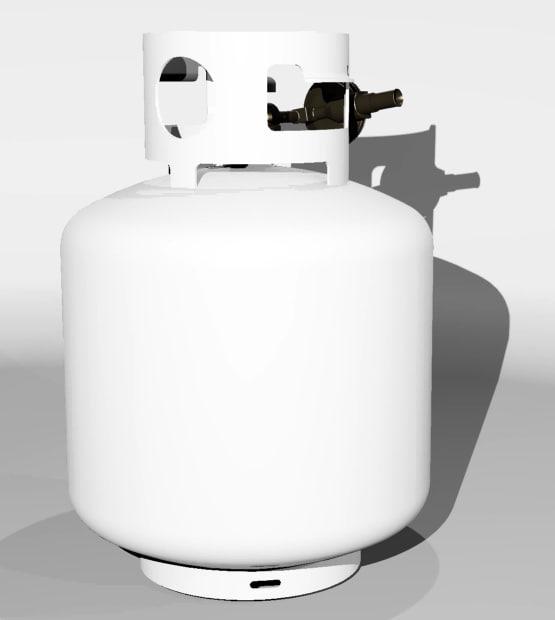 3d propane gas model
