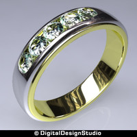 3d ring diamond 126 model