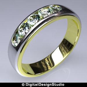 3d ring diamond 126 model