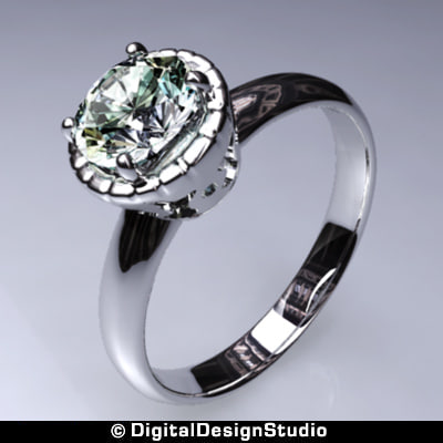 3d model of ring diamond 149
