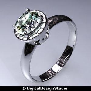 3d model of ring diamond 149