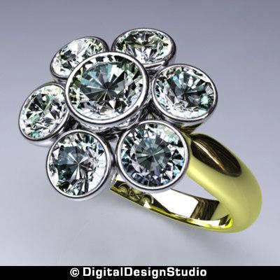 ring diamond 163 3d model