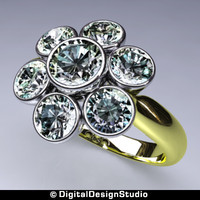 ring diamond 163 3d model