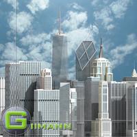3D Newyork skyscrapers