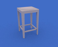 3ds aluminum stool