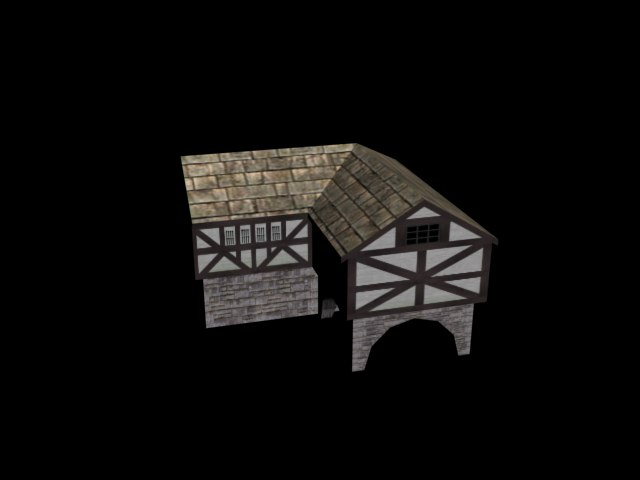 3dsmax small pack houses rigged man