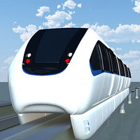 3d model monorail train