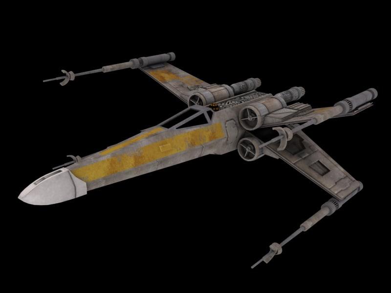 star wars x-wing fighter 3d max